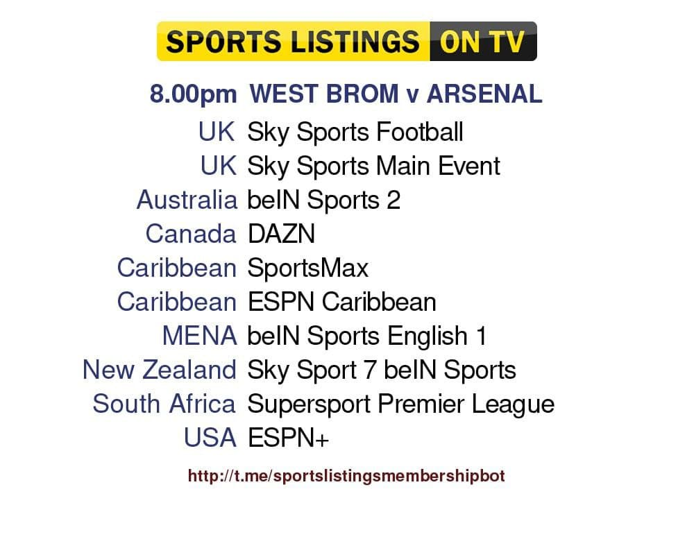 Football 25/8/2021 - West Bromwich Albion v Arsenal Detailed