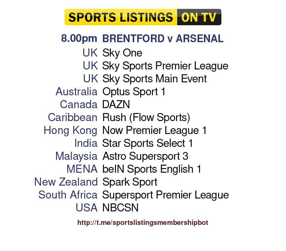 Football 13/8/2021 - Brentford v Arsenal Detailed