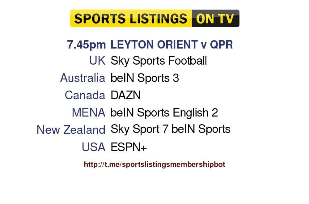 Football 11/8/2021 - Leyton Orient v Queens Park Rangers