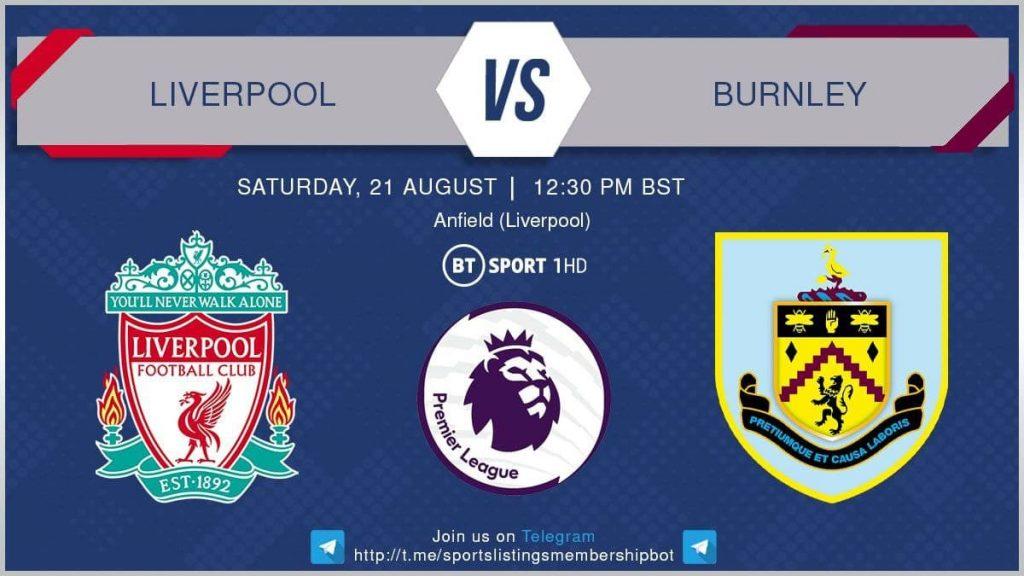 Football 21/8/2021 - Liverpool v Burnley
