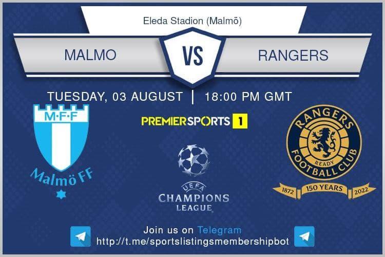 Football 3/8/2021 - Malmo v Rangers
