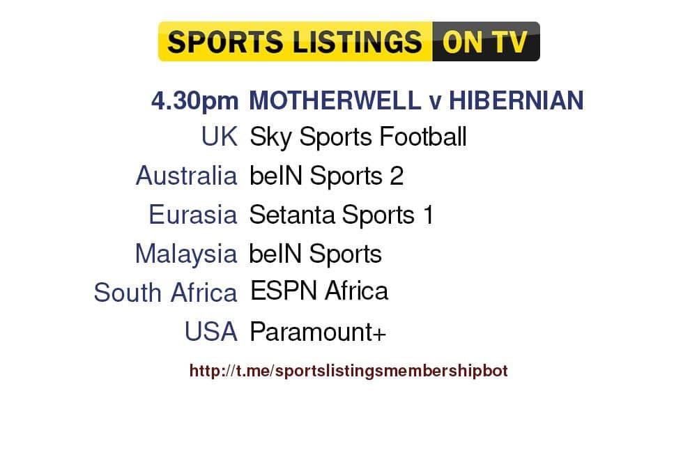 Football 1/8/2021 - Motherwell v Hibernian detailed