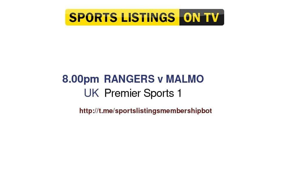 Football 10/8/2021 - Rangers v Malmo FF