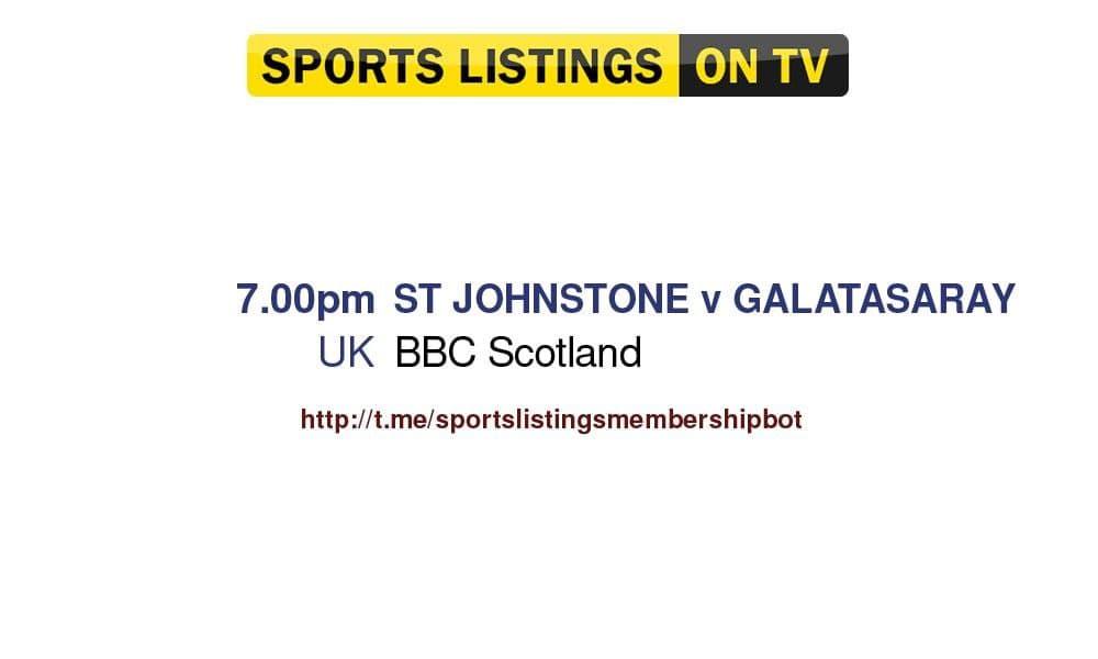 Football 12/8/2021 - St Johnstone v Galatasaray