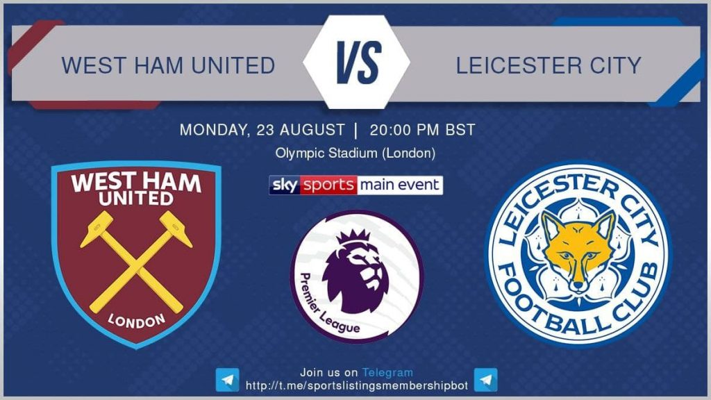 Football 23/8/2021 - West Ham United v Leicester City