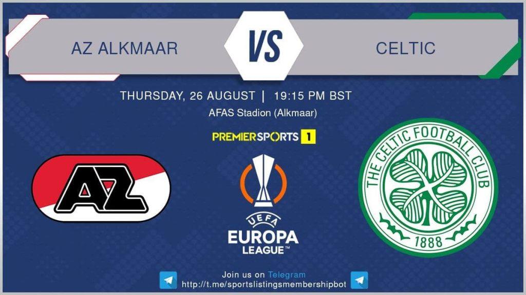 football 26/8/2021 - AZ Alkmaar v Celtic