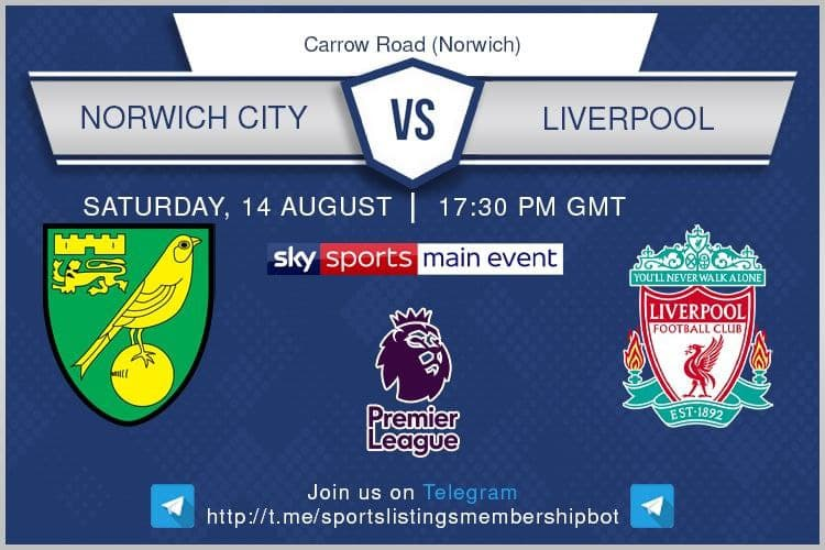Football 14/8/2021 - Norwich v Liverpool