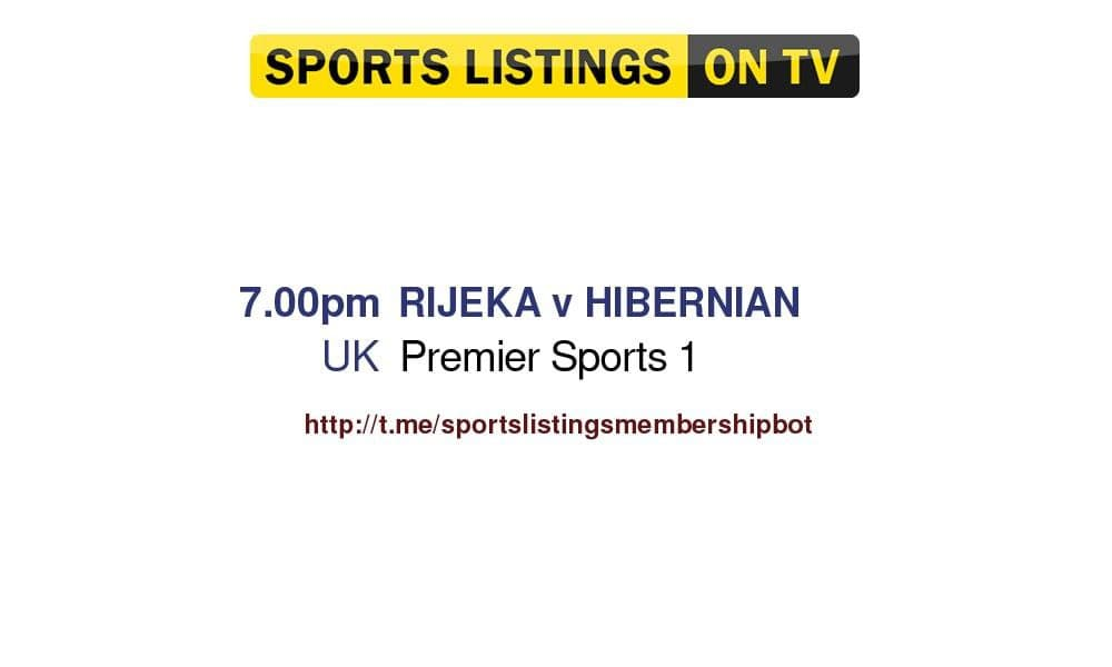 Football 12/8/2021 - Rijeka v Hibernian