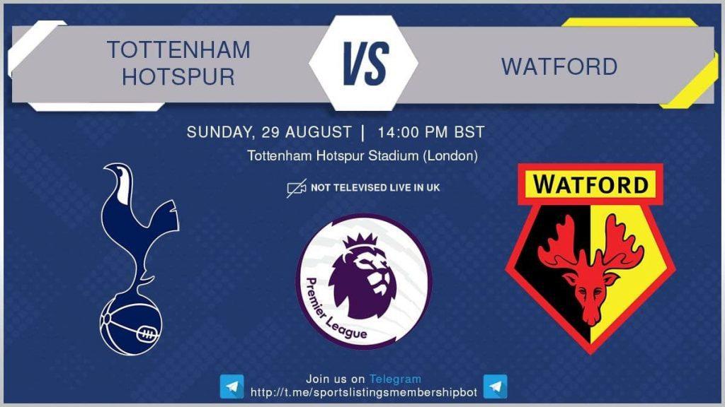 Football 29/8/2021 - Tottenham v Watford