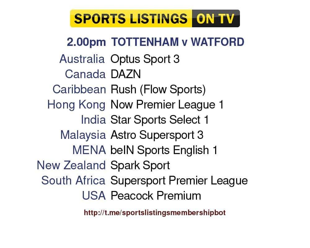 Football 29/8/2021 - Tottenham v Watford Detailed