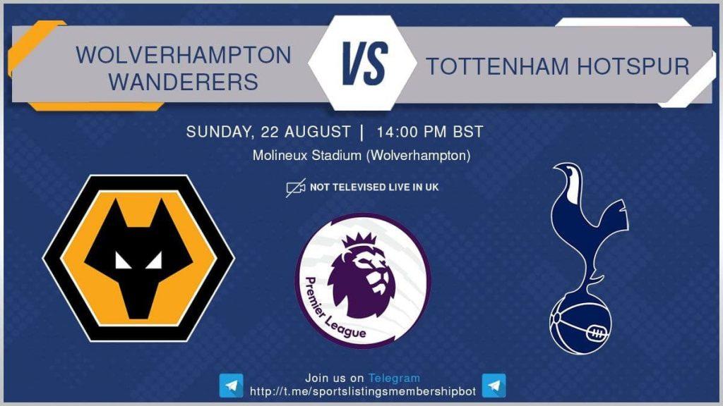 Football 22/8/2021 - Wolves v Tottenham