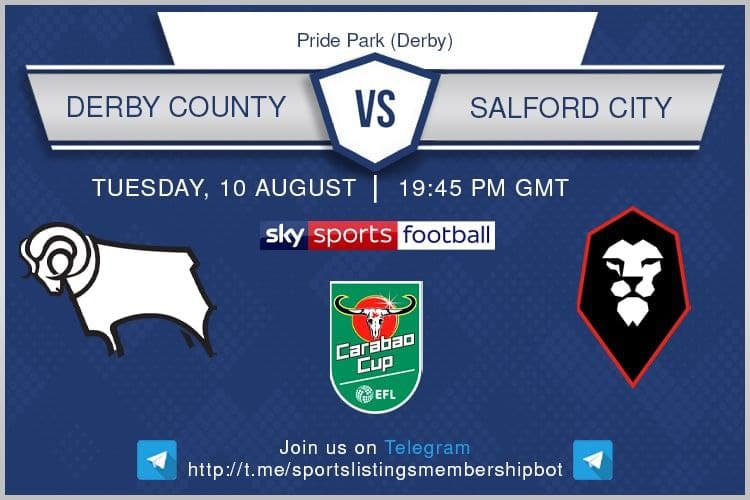 Football 10/8/2021 - Derby v Salford City