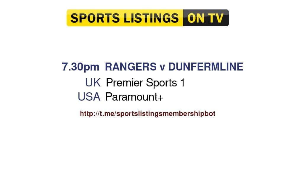 Football 13/8/2021 - Rangers v Dunfermline Detailed