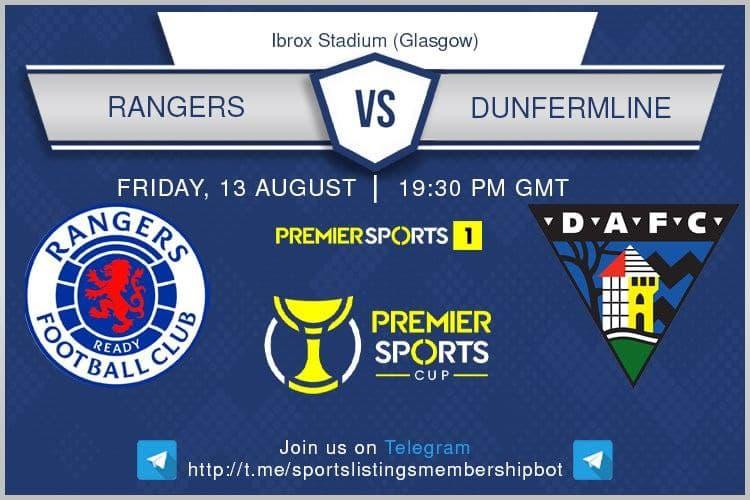 Football 13/8/2021 - Rangers v Dunfermline