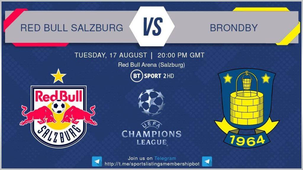 Football 17/8/2021 - Red Bull Salzburg v Brondby