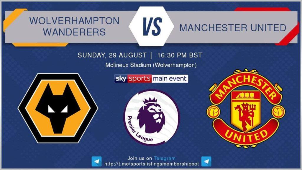 Football 29/8/2021 - Wolves v Manchester United
