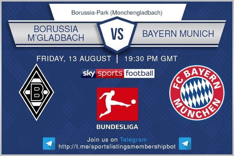 Football 13/8/2021 - Borussia M.Gladbach v Bayern Munich