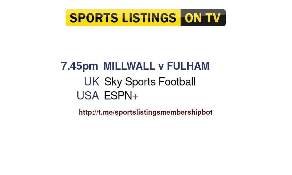 Football 17/8/2021 - Millwall v Fulham