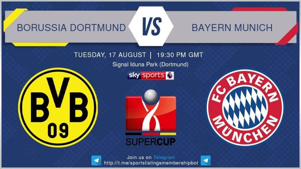 Football 17/8/2021 - Borussia Dortmund v Bayern Munich