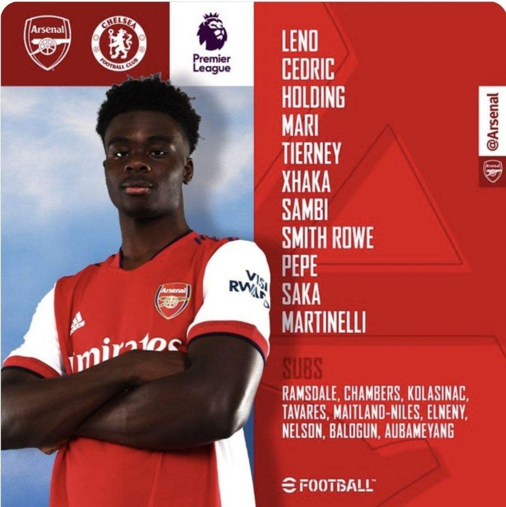 Football 22/8/2021 -Arsenal v Chelsea