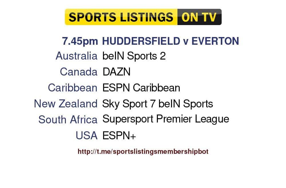 Football 24/8/2021 -Huddersfield v Everton