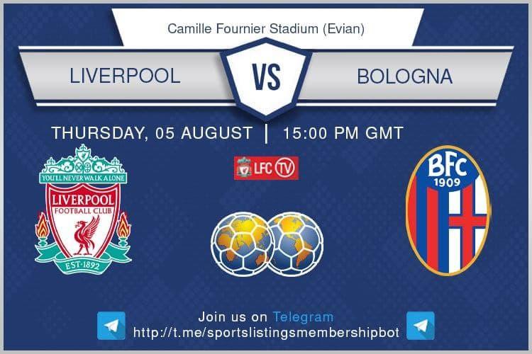 Football 5/8/2021 - Liverpool v Bologna