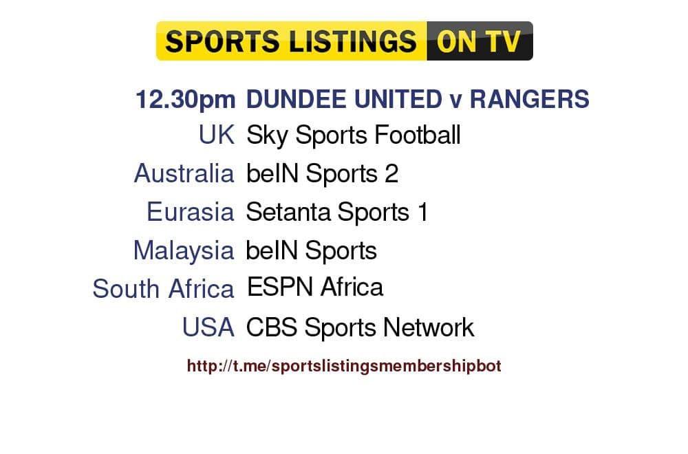 Football 7/8/2021 - Dundee v Rangers