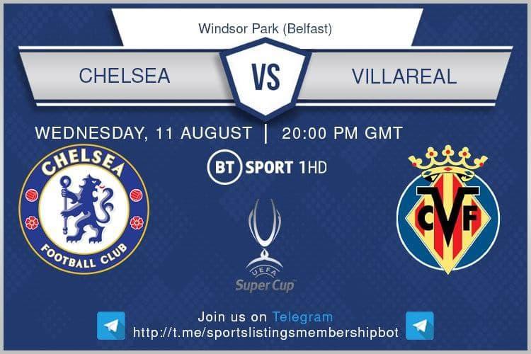 Football 11/8/2021 - Chelsea v Villarreal