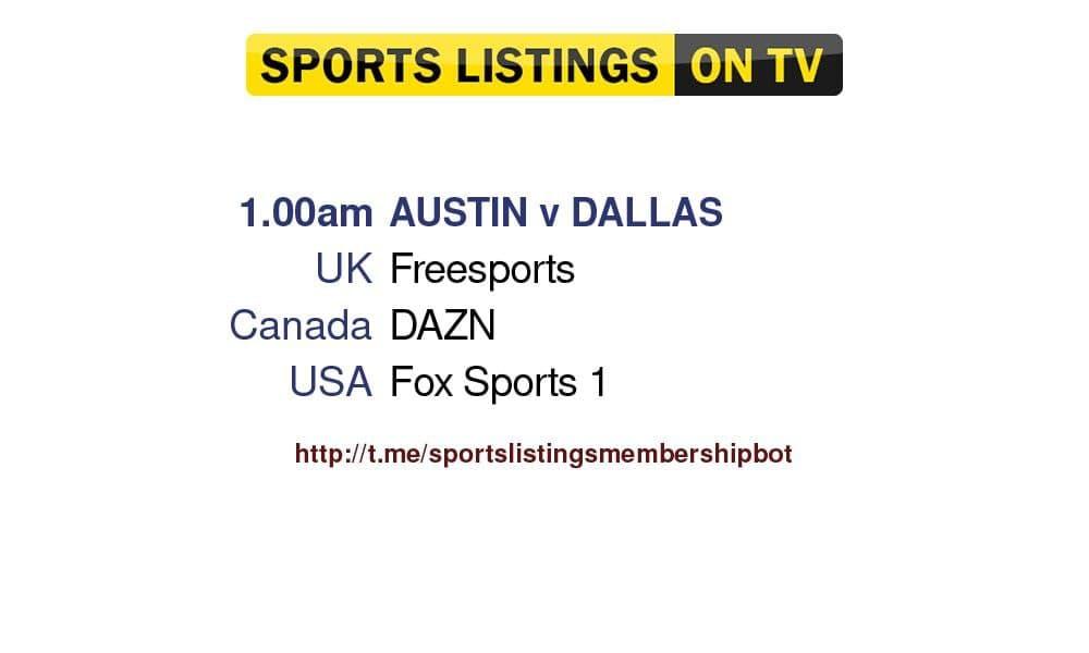 Football 30/8/2021 - Austin v Dallas