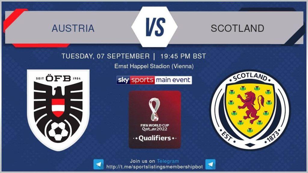Football 7/9/2021 - Austria v Scotland
