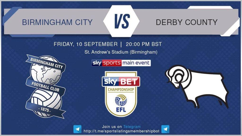 Football 10/9/2021 - Birmingham v Derby