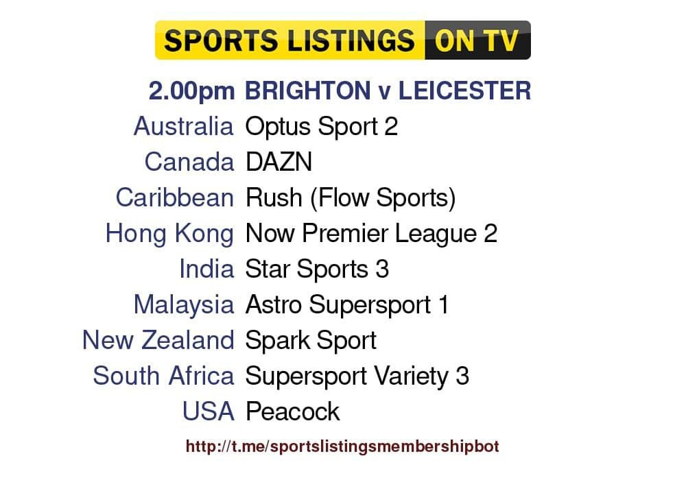 Premier League 19/9/2021 - Brighton v Leicester