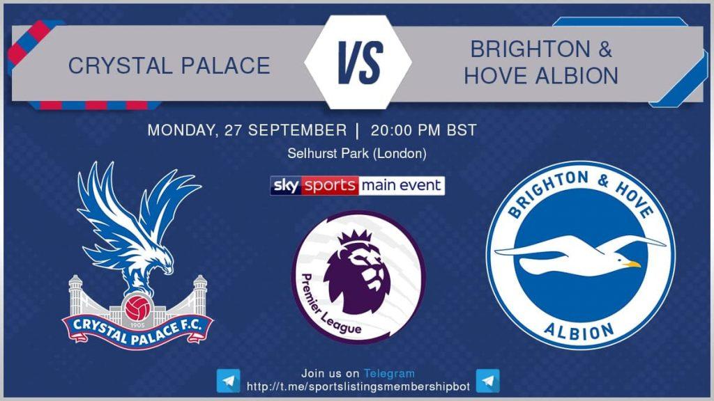 Premier League 27/9/2021 - Crystal Palace v Brighton