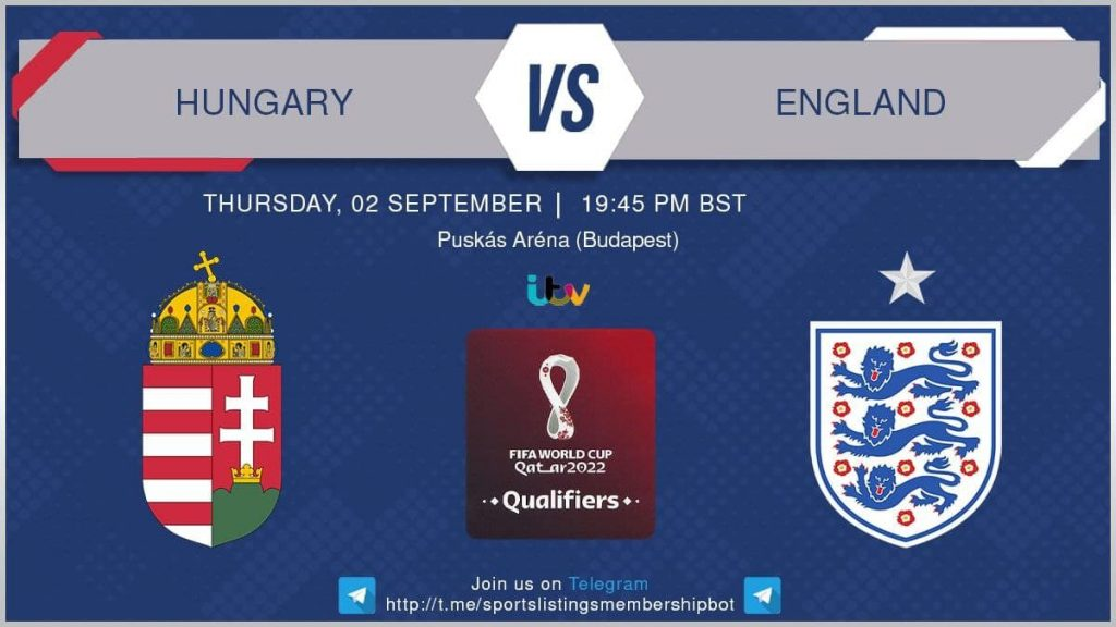 World Cup Qualifiers 2/9/2021 - Hungary v England