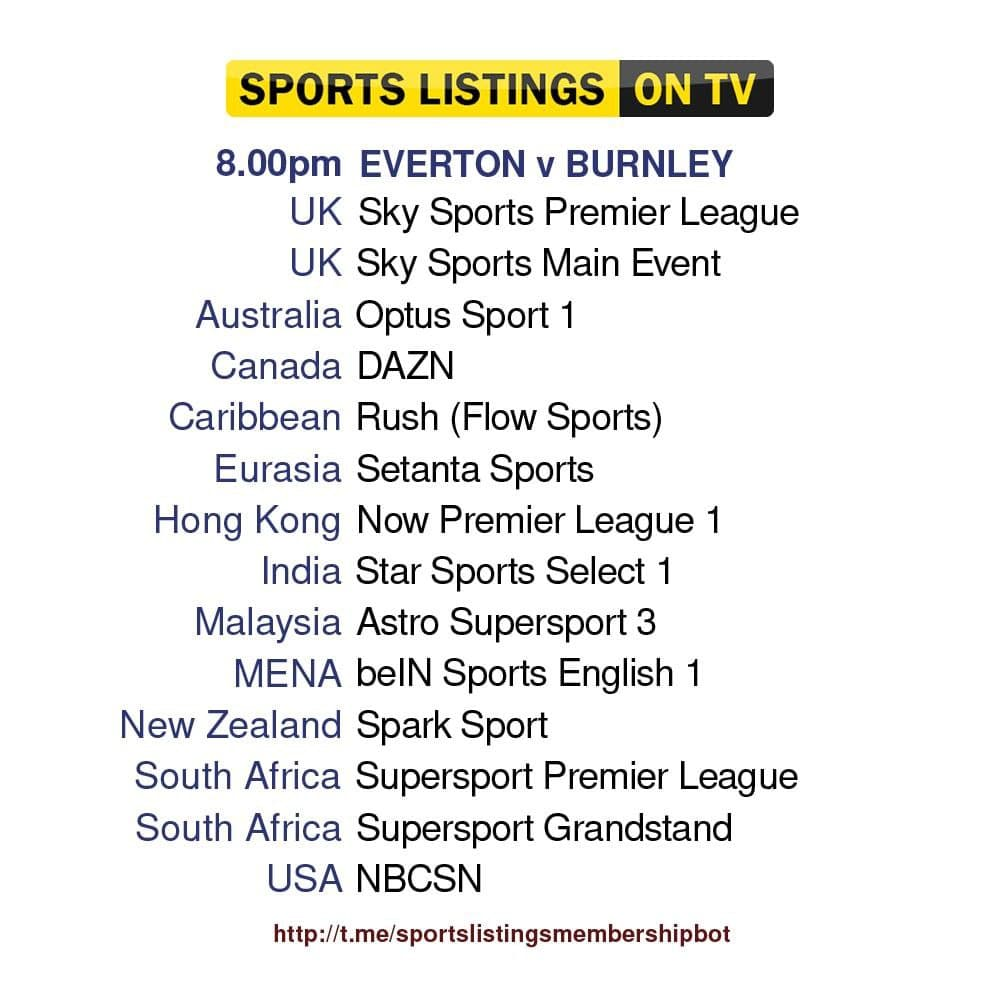 Premier League 13/9/2021  - Everton v Burnley