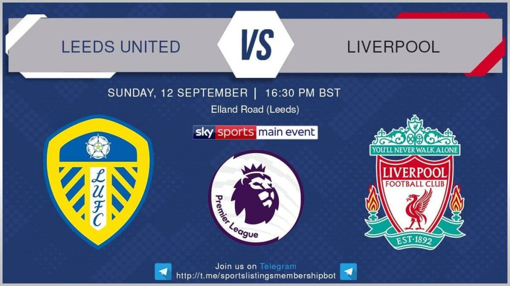 Premier League 12/9/2021 - Leeds United v Liverpool