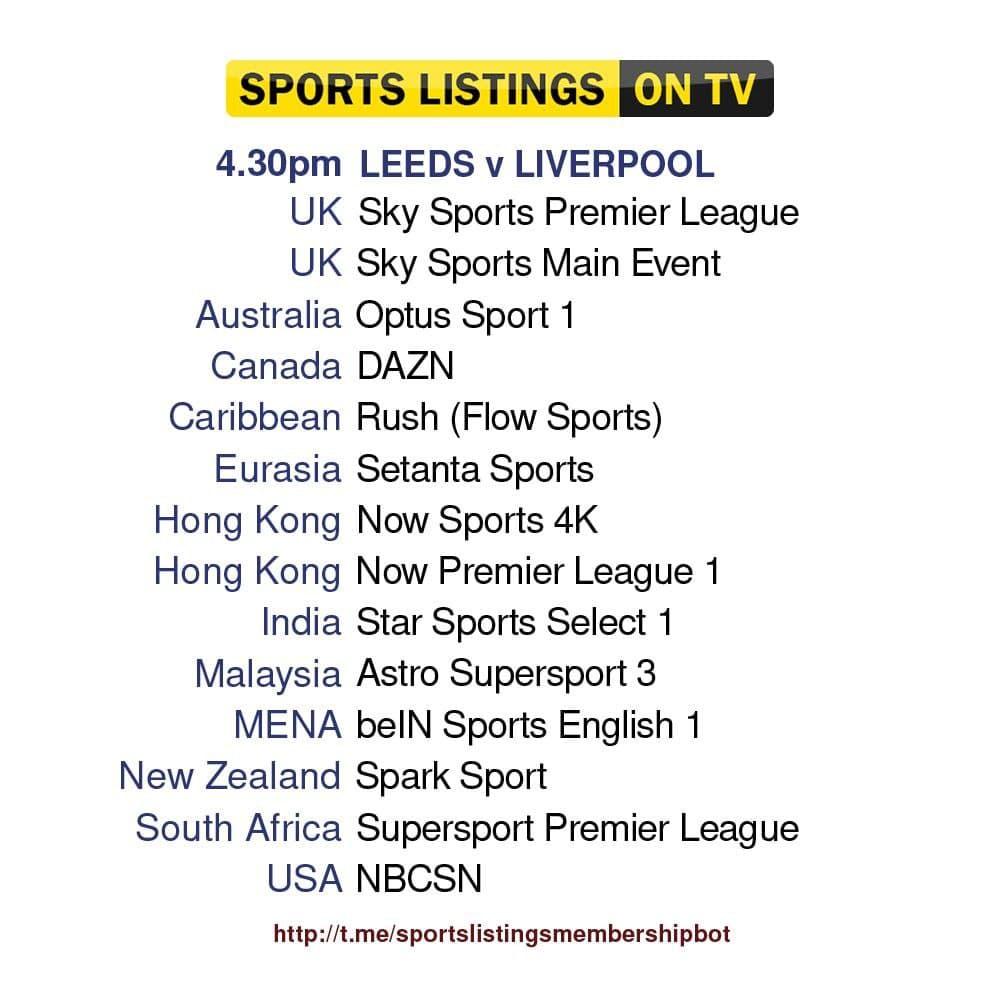 Premier League 12/9/2021 - Leeds United v Liverpool Detailed