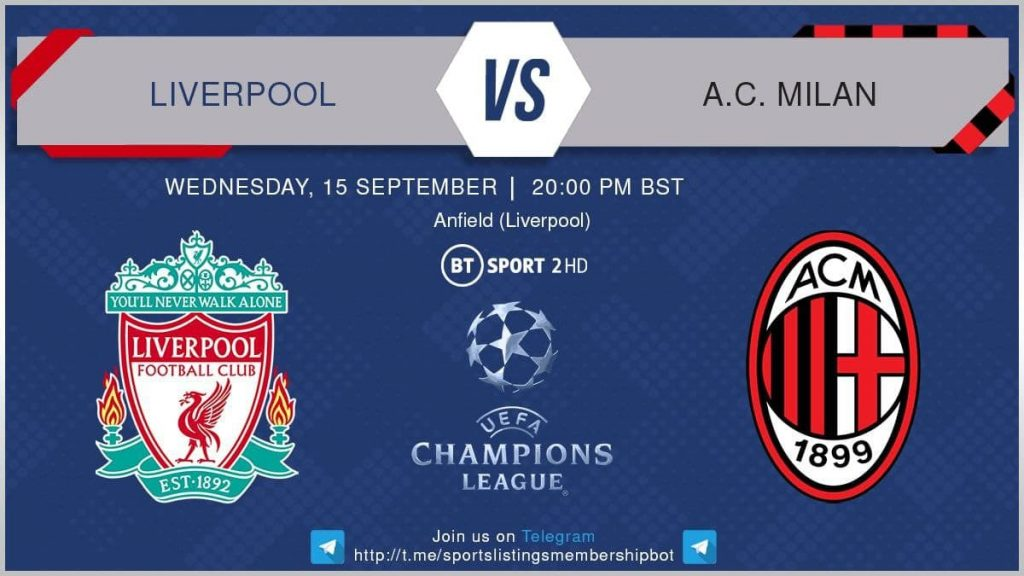 Champions League 15/9/2021 - Liverpool v AC Milan