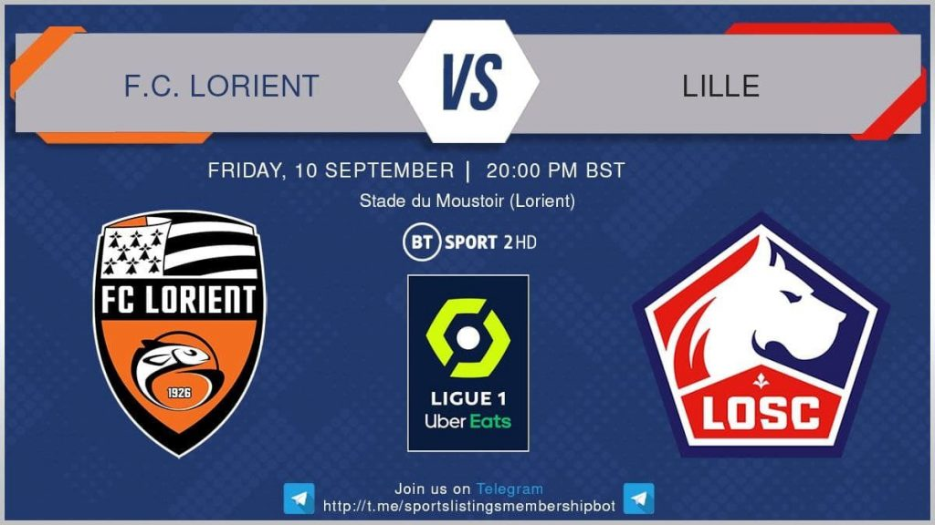 Football 10/9/2021 - Lorient v Lille