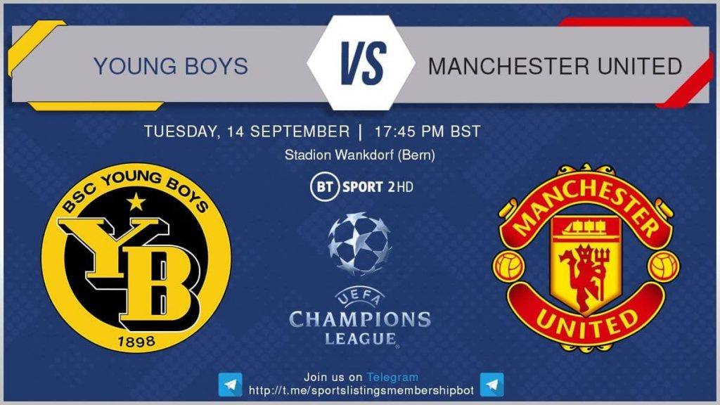 Champions League 14/9/2021 - Young Boys v Manchester United
