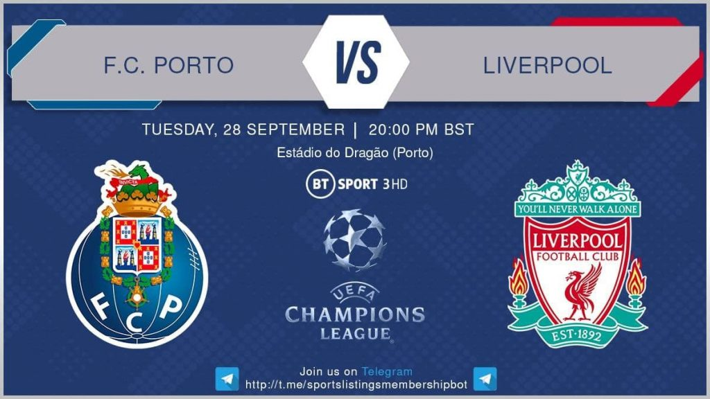 Champions League 28/9/2021 - Porto v Liverpool