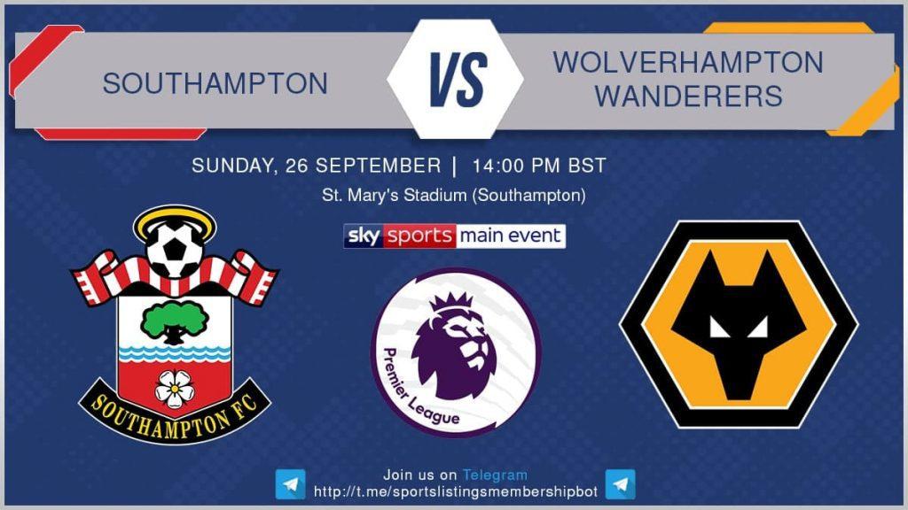 Premier League 26/9/2021 - Southampton v Wolverhampton Wanderers