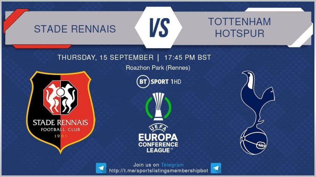 Europa League 16/9/2021  Stade Rennais v Tottenham Hotspur
