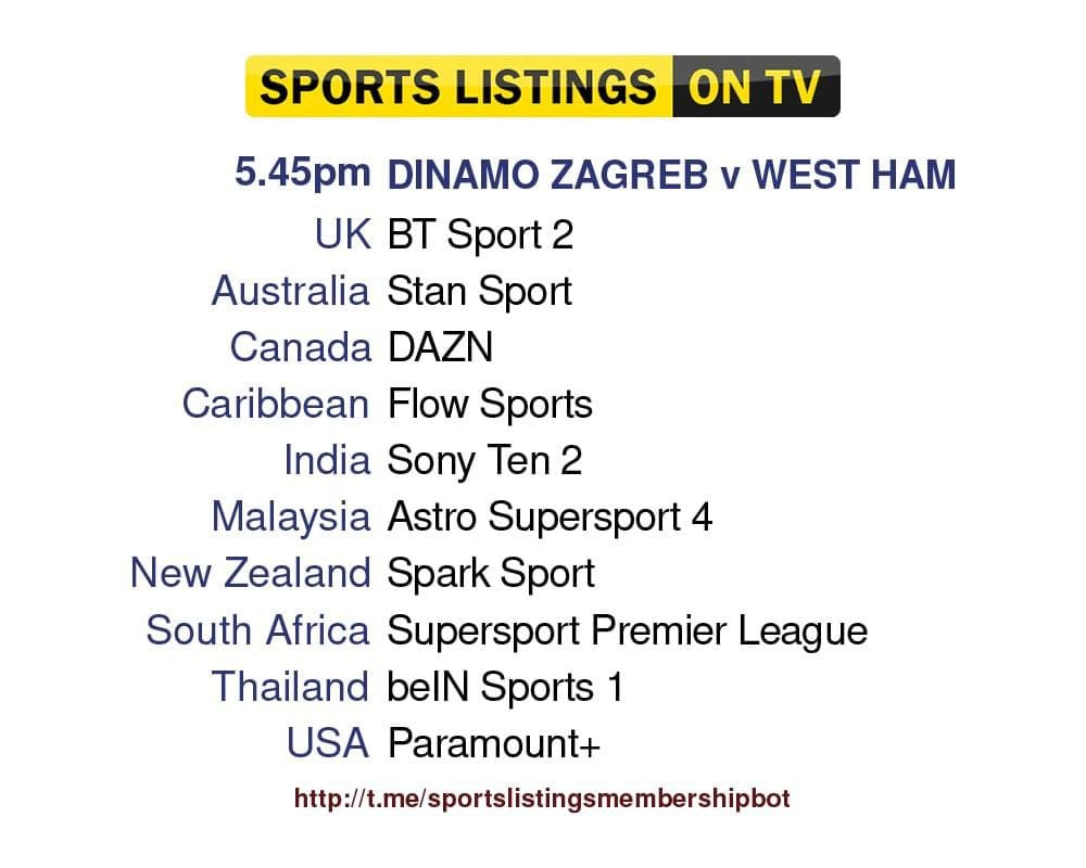 Europa League 16/9/2021 - Dinamo Zagreb v West Ham United
