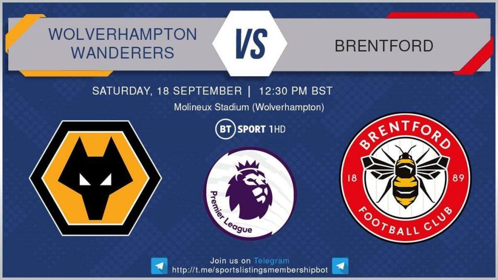 Premier League 18/9/2021 - Wolves v Brentford