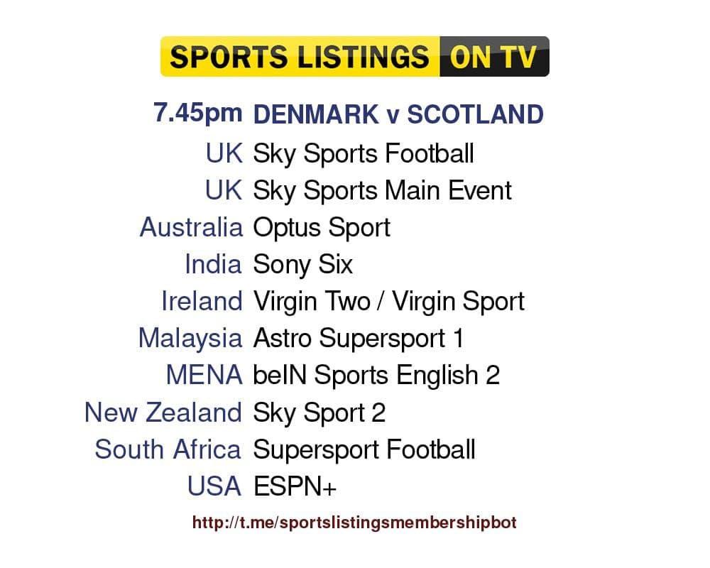 Football 1/9/2021 - Denmark v Scotland