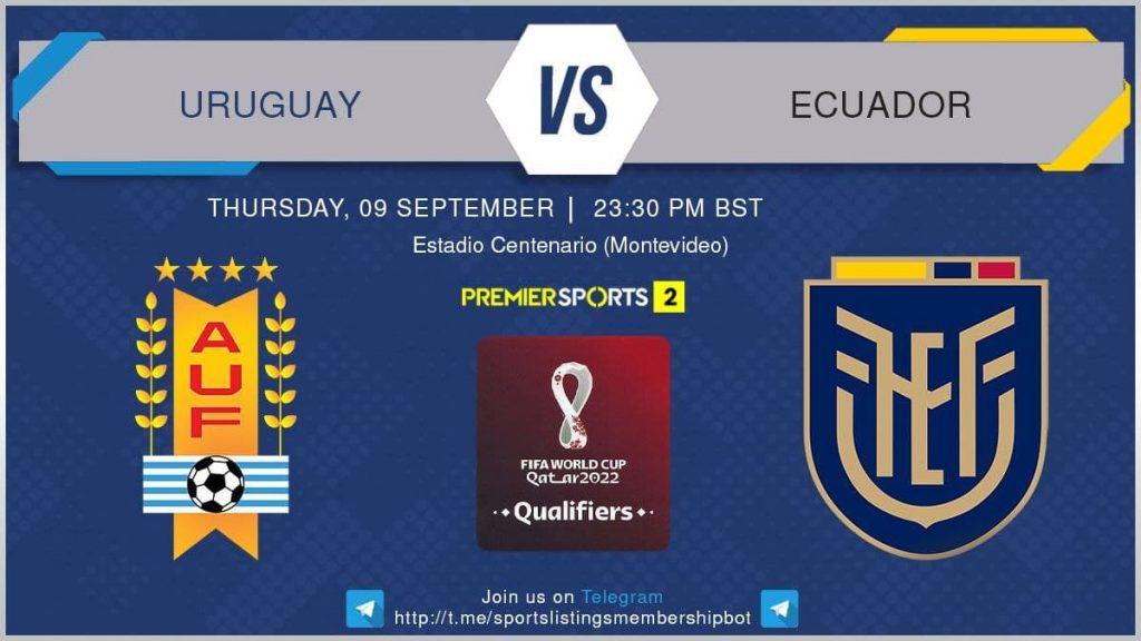 World Cup Qualifiers 9/9/2021 - Uruguay v Ecuador