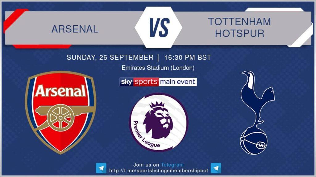 Premier League 26/9/2021 - Arsenal v Tottenham Hotspur