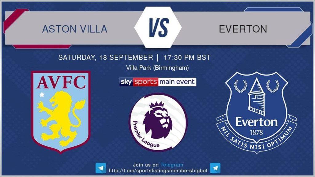 Premier League 18/9/2021 Aston Villa v Everton