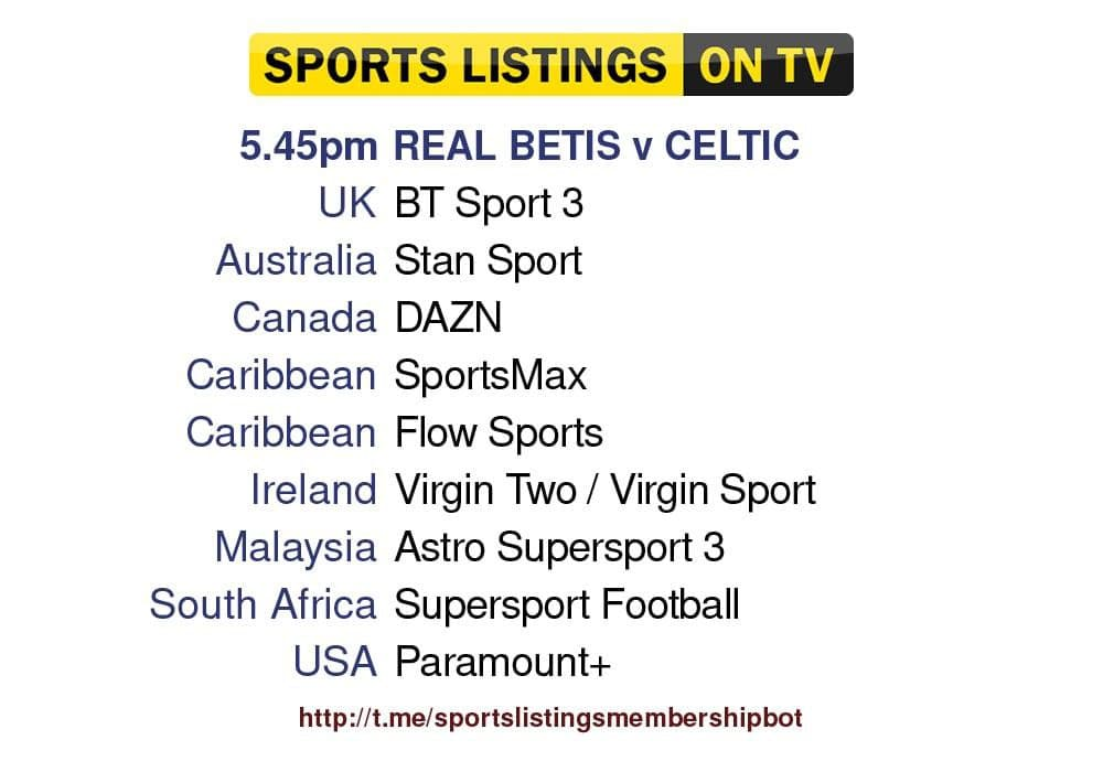 Europa League 16/9/2021 - Real Betis v Celtic